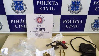 Foto de Polícia prende suspeito de homicídios e apreende drogas e arma em SAJ