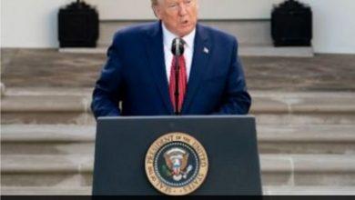 Foto de Donald Trump anuncia que foi diagnosticado com Covid-19