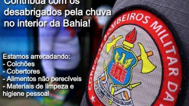 Foto de Corpo de Bombeiros realiza campanha para ajudar famílias do sul da Bahia atingidas pelas fortes chuvas