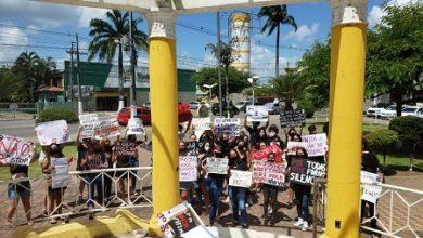 Foto de SAJ: Manifestação pacífica pede Justiça por Mariana Ferrer e reivindica violência contra a mulher
