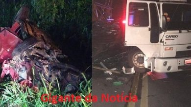 Foto de Sapeaçu: Homem morre após acidente entre carro e caminhão na BR-101