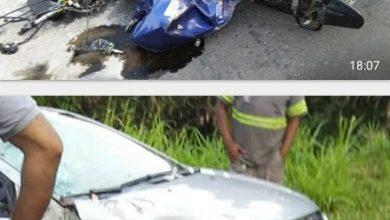 Foto de Uma pessoa morre e outra fica ferida em colisão na BA-001 em Nazaré das Farinhas