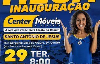 Foto de Center Móveis e Eletros será inaugurada nesta terça (29) em Santo Antônio de Jesus