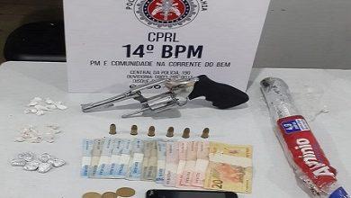 Foto de Ubaíra: Polícia prende em flagrante homem em posse de arma e drogas