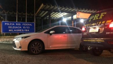 Foto de PRF de Milagres prende homem de 28 anos por receptação de veículo