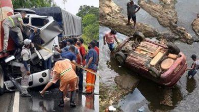 Foto de Pista molhada causa acidentes na BR e BA nesta quarta (13); região de Santo Antônio de Jesus
