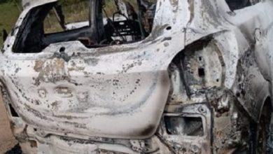 Foto de Carro é encontrado incendiado na zona rural de Dom Macedo Costa