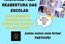Foto de SAJ participa da Carreata Nacional pela Reabertura das Escolas no próximo sábado (16) com saída do Espaço do São João