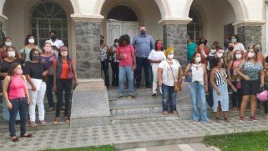 Foto de Professores da rede municipal de SAJ fazem manifestação contra anulação do enquadramento da classe