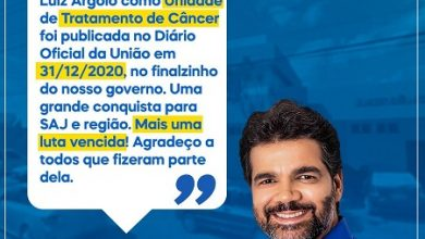 Foto de SAJ: Hospital Luíz Argôlo é habilitado para tratar pacientes com câncer, anuncia o ex-prefeito Rogério Andrade