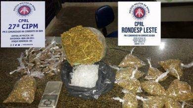 Foto de Cruz das Almas: Homem suspeito de envolvimento com o tráfico é preso com droga
