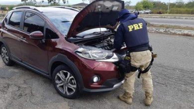 Foto de Veículo clonado é recuperado pela PRF no município de Milagres