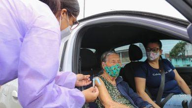 Foto de SAJ: 104 idosos a partir de 90 anos recebem segunda dose de vacina