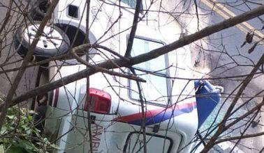 Foto de Duas pessoas morrem em grave acidente com ambulância no Cruzeiro de Laje