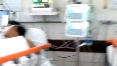 Foto de Fakenews: Vídeo mostrando suposta superlotação no Hospital Regional de Santo Antonio de Jesus não foi gravado na unidade. Material foi usado em reportagem de TV