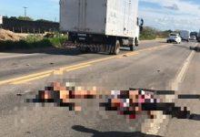 Foto de Cruz das Almas: Colisão entre moto e caminhão deixa um morto e outro ferido na BR-101