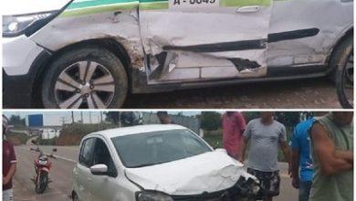 Foto de Dois veículos se envolvem em acidente na BA-046 em Santo Antônio de Jesus