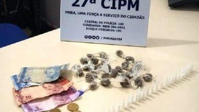 Foto de Drogas são apreendidas pela polícia em Conceição do Ameida