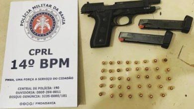 Foto de Dom Macedo Costa: Dois são presos com arma de fogo e munições