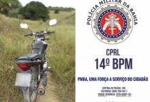 Foto de SAJ: Polícia recupera moto na Zona Rural