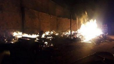 Foto de Serraria fica destruída após ser atingida por incêndio em Guanambi