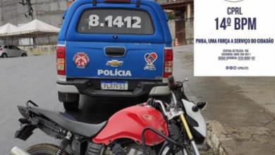 Foto de Motocicleta roubada é recuperado pela Polícia na zona rural de Laje