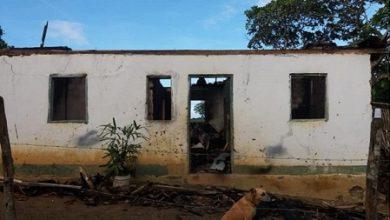 Foto de Laje: Casa pega fogo e família fica desabrigada