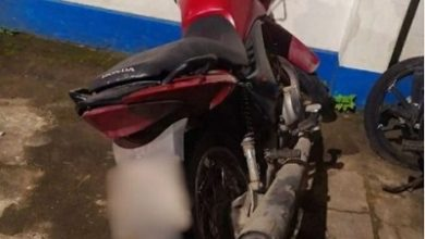 Foto de Moto furtada é encontrada pela polícia em Santo Antônio de Jesus
