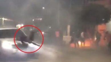 Foto de Vídeo mostra momento em que homem é atropelado por carro em Cruz das Almas durante guerra de espadas