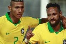 Foto de Richarlison e Neymar marcam e Brasil vence o Equador nas Eliminatórias da Copa do Mundo