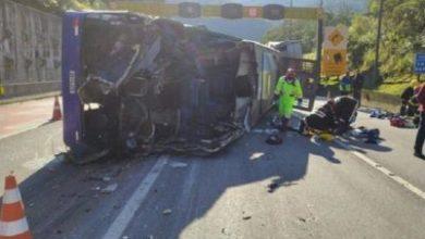 Foto de Duas vítimas fatais e outras feridas em acidente envolvendo delegação de FUTSAL