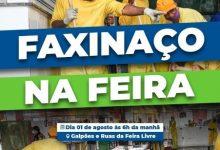 Foto de SAJ: Secretaria de Agricultura e Abastecimento realizará faxinaço neste domingo (01), na Feira Livre