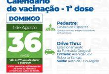 Foto de Após receber 1726 unidades da vacina neste sábado (31), SAJ ampliará a etapa da campanha neste domingo (01)