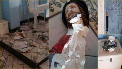 Foto de Santa Terezinha: Imagens de santos são quebradas em templo católico