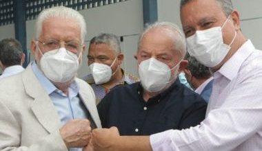 Foto de Lula foi recebido em  Salvador por Rui Costa e Jaques Wagner e cumpriu agenda