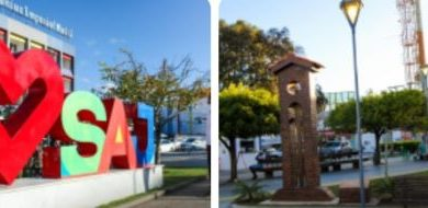 """Foto de Letreiro """"Amo SAJ"""" e  marco alusivo à primeira capela da cidade foram concluídos"""