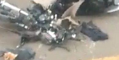 Foto de Valença: Mulher morre após colisão entre caminhão e moto