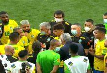 Foto de Após confusão, partida entre Brasil e Argentina é suspensa