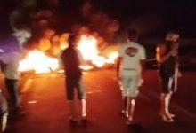 Foto de Governador Mangabeira: Manifestantes bloqueiam a BR-101