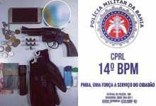 Foto de SAJ: Polícia prende homem em Pousada com arma de fogo e munições